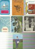 AMS* - LOT DE 7 MINI CALENDARE PE ANII 1968, 1969, 1976, 1976, 1981, 1983, 1989