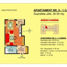 Vand garsoniera, etaj 2, zona Tractorul-Brasov - Apartament de vanzare, 54 mp, Numar camere: 2, An constructie: 2018, Etajul 2