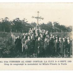 4112 - TURDA, tomb Mihai Viteazul - old postcard, real PHOTO - unused, Necirculata, Fotografie