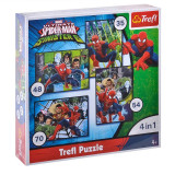 Puzzle copii Spiderman 4 in 1 Trefl, 4 ani+