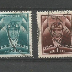 No(9) timbre-Romania -TIMBRUL AVIATIEI-stampilat, An: 1936