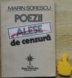 Poezii alese de cenzura Marin Sorescu