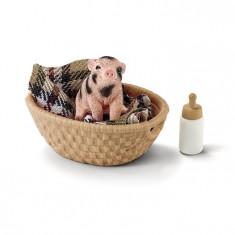 Set Figurina Schleich - Porc Pitic Cu Sticla - Sl42294