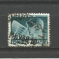 No(9)timbre-Romania -FONDUL AVIATIEI-stampilat, An: 1936, Nestampilat