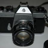 Aparat foto film Pentax Spotmatic F, obieciv Super Takumar 1:2 , 50mm