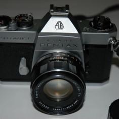 Aparat foto film Pentax Spotmatic F, obieciv Super Takumar 1:2, 50mm - Aparate Foto cu Film