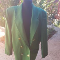 SACOU DAMA DIN LANA SUBTIRE, MARIME MARE, Marime: One size, Culoare: Verde