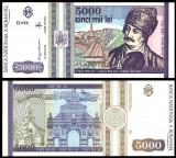 5000 LEI 1993 UNC NECIRCULATA
