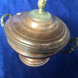 Supiera cupru, ornamente bronz - Metal/Fonta