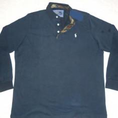 BLUZA 3XL BARBATI BLEUMARIN FLANELA GROASA TRICOU GROS MANECA LUNGA GULER BUMBAC - Bluza XXXL, Culoare: Din imagine