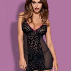 Chemise și Chiloţi Tigra Obsessive, Marime: L/XL, Culoare: Negru