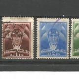 No(8) timbre-Romania -TIMBRUL AVIATIEI-stampilat, Nestampilat