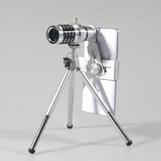 Obiectiv 12x zoom pentru telefon sticla optica certificata