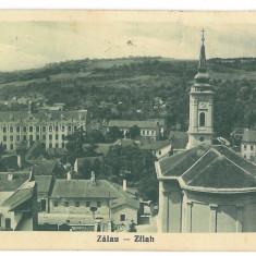 4070 - Salaj, ZALAU, panorama - old postcard - used - 1939, Circulata, Printata
