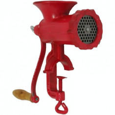 Masina de tocat carne nr.10 rosie - Masina de tocat manuala