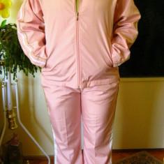 Trening nou, set geaca + pantaloni sport, roz, marime S/M