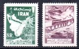 IRAN 1958, locomotive, serie neuzată, MNH, Transporturi, Nestampilat
