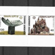 Grecia 1987 - Timbre straine, Nestampilat