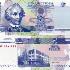 TRANSNISTRIA 5 ruble 2000 UNC!!! - bancnota europa
