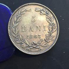 5 bani 1867 H - Moneda Romania