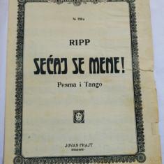 (T) Partitura muzicala veche - Ripp - Secaj se mene! - Pesma i Tango