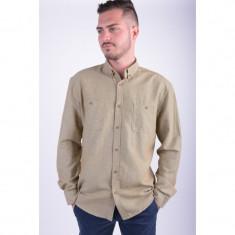 Camasa Selected Granted Shirt Ls Regular Fit Khaki - Camasa barbati Selected, Marime: L