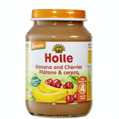 Holle Bio piure de banane si cirese, de la 4 luni