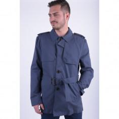 Trench Selected Tyler Trend Coat Albastru