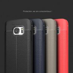 Husa / Bumper Antisoc model PIELE pentru Samsung Galaxy S7 / S7 edge