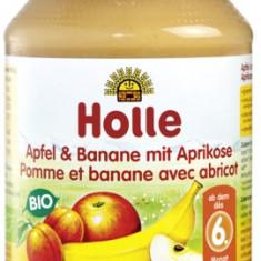 Holle Bio piure de mere banane si caise, de la 6 luni