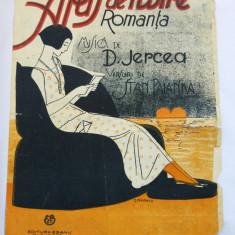 (T) Partitura muzicala veche - Apus de iubire - Romanta, D. Jercea, Stan Palanka