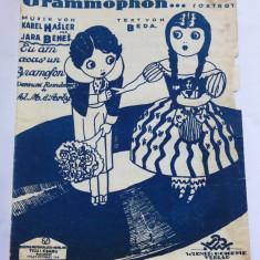 (T) Partitura muzicala veche, 1925 - Ich hab zu Haus ein Grammophon - Foxtrot