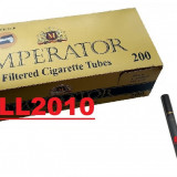 IMPERATOR NEGRU - tuburi tigari NEGRE pentru injectat tutun, filtre tigari - Foite tigari