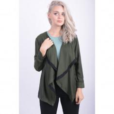 Cardigan Vero Moda Vmmichelle 7/8 Ivy Green - Pulover dama Vero Moda, Marime: M, Culoare: Khaki, Vascoza