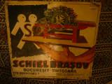 Firma pictata pe tabla - Schiel Brasov cu filiale Buc. si Timisoara ,interbelica