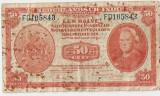 INDIILE OLANDEZE NETHERLANDS INDIES 50 CENT 1943 F