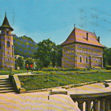 CPI (B9263) MANASTIREA NEAMT. TURNUL SI BISERICA LUI STEFAN CEL MARE - Carte Postala Moldova dupa 1918, Circulata, Fotografie