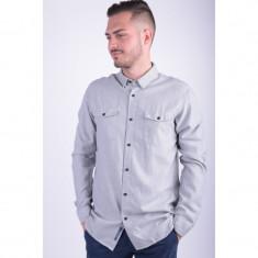 Camasa Selected Shntwoles Shirt Ls Regular Fit Light Grey - Camasa barbati Selected, Marime: L, Culoare: Gri