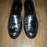 Pantofi dama CARVELA Kurt Geiger piele argintiu superbi sz. 37 noi !, Cu talpa joasa