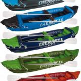 Inflatable Canoe Cherokee albastru-verde