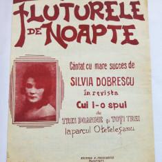 (T) Partitura muzicala veche - Fluturele de noapte, Silvia Dobrescu