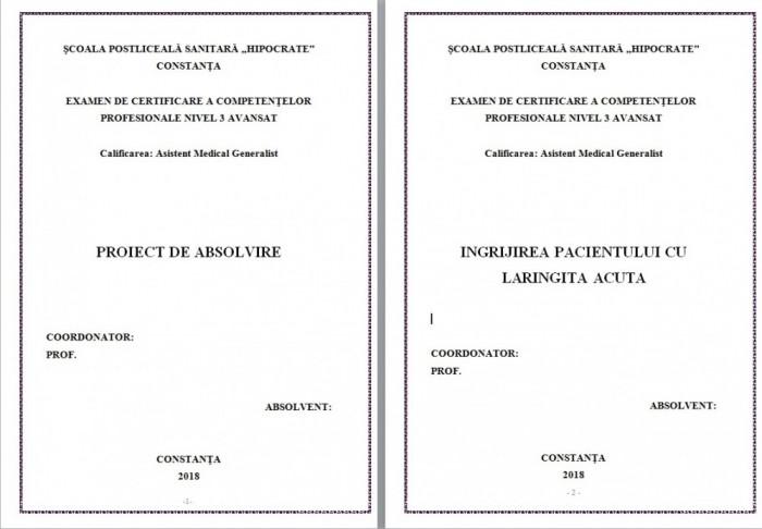 LUCRARE DE LICENTA AMG – INGRIJIREA PACIENTILOR CU LARINGITA ACUTA (1)