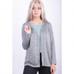 Cardigan Vero Moda Maryanne Open Light Grey Melange - Pulover dama Vero Moda, Marime: M, Culoare: Gri, Bumbac