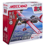 Jucarie Set constructii metalice Avion 78 pcs 2 in 1 Meccano