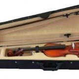Vioara clasica lemn copii cu arcus si cutie marime1/4 noua