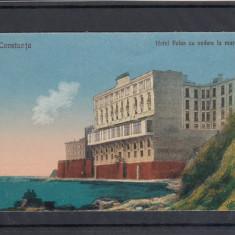 CONSTANTA, HOTEL PALAS CU VEDERE LA MARE - Carte Postala Dobrogea dupa 1918, Necirculata, Printata
