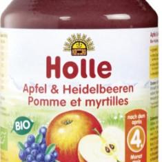 Holle Bio piure de mere si afine, de la 4 luni