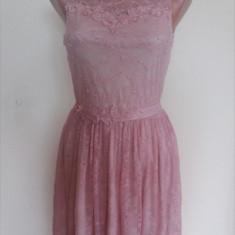 Rochie eleganta din dantela - Rochie ocazie, Marime: 38, Culoare: Roz