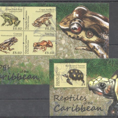 Grenada 2011 - Fauna, reptile, broaste, bloc si colita neuzata - Timbre straine