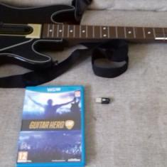 Set Guitar Hero Live - Chitara + Receiver USB + Joc - Nintendo Wii U, Controller